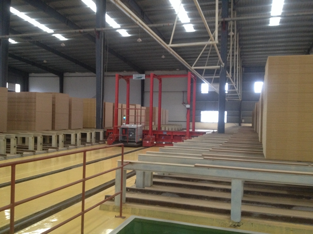 Our second automatic intermediate storage system with a full set of equipment has been put into operation Jiangxi Lvzhou Wood Industry Co., Ltd. in June, 2014.
