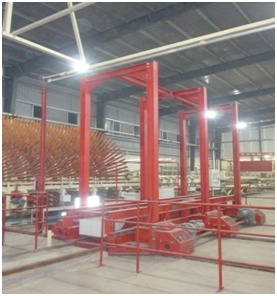 Our first automatic intermediate storage system with a full set of equipment has been put into operation and accepted in Guangxi Fenglin Wood-based panel Co., Ltd. in Oct, 2013.